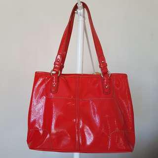 Authentic Nine West Tote Bag Red