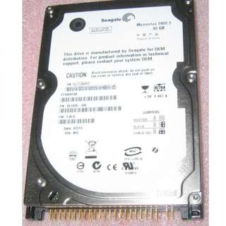 Seagate 80GB IDE 2.5-inch harddisk . Please read: NON-Sata