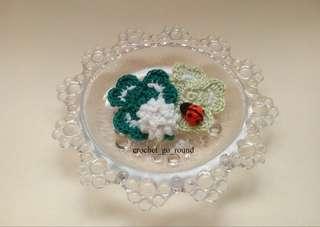 Handmade Clover Leaves Brooch