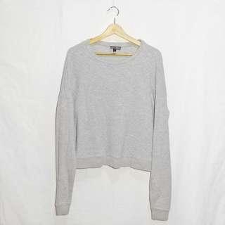 Topshop Textured Gray Sweater