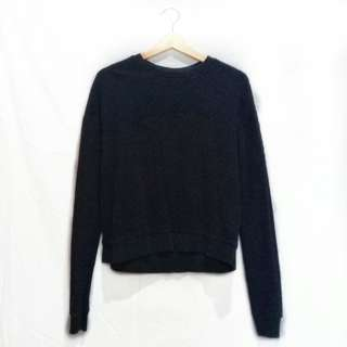 Topshop Textured Black Sweater