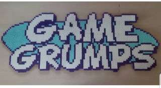 Hama perler beads design big portrait of game grumps