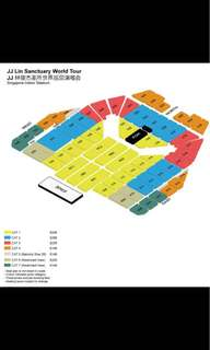 (Buy) A pair of (SUNDAY only!!) JJ Lin CAT 2/3 tickets