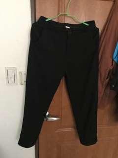 黑色韓版西裝9分褲