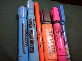 Highlighters (mostly imported)