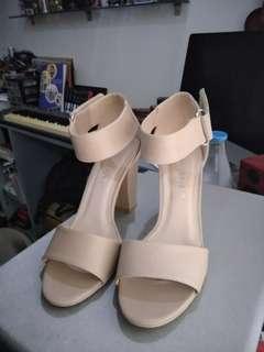 4inch Block Heels(Nude)