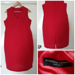 Dorothy Perkins Red Corporate Dress