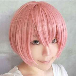 Pink short wig