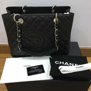 Chanel GST Authentic silver hardware