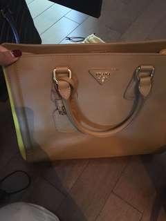 Prada purse beige and yellow