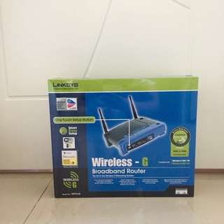 new!!!LINKSYS WRT54G Broadband router WIFI 路由器 全新未開封 可小議