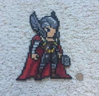 Hama perler beads design portrait of thor