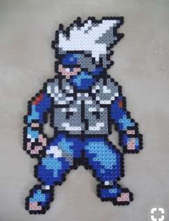 Hama perler beads design portrait of another kakashi hatake