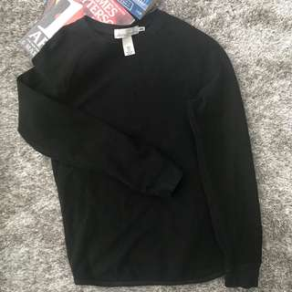H&M Men Black Pullover Sweater Size XS for Guys #hm299