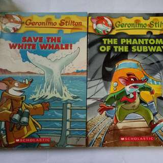 Geronimo Stilton - The Phantom Of The Subway(book 13) & Save The White Whale! (book 45)