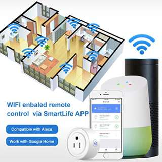 Smart Plug Socket Wi-Fi Enabled