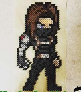 Hama perler beads design portrait of Bucky