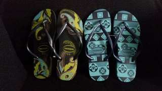 2 pairs of Authentic Havaianas slippers from Brazil