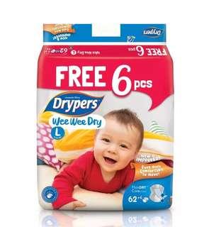 Drypers Wee Wee dry L 68