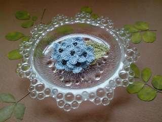 Handmade  Mini Hydrangea Brooch-Blue