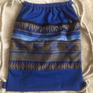 Blue string bag