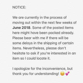 House Moving Notice