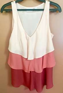 Sleeveless layered top from US