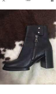 Jo Mercer Leather Boots Size 39