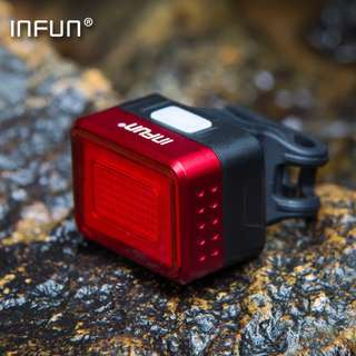 INFUN F50 Bicycle Electric Scooter Front Rear Tail LED light / Flashing Warning Lights