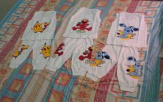 3pairs cartoon characters muscle and panjama
