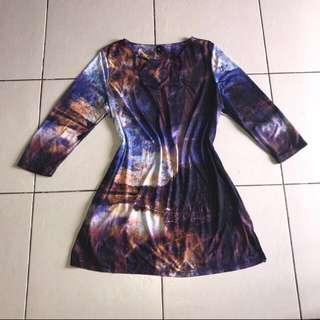 Galaxy Printed Dress