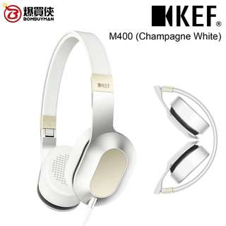 KEF M400頭戴式Hi-Fi耳機 (香檳白)