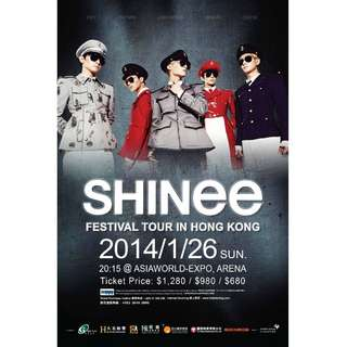 SHINEE FESTIVAL TOUR IN HONG KONG 2014 Poster