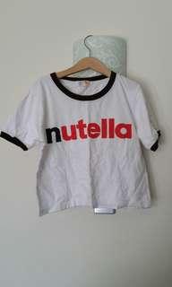 Nutella Crop Top