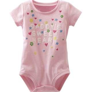 """Little Maven Pink DADDY""""S SWEETHEART Romper"""