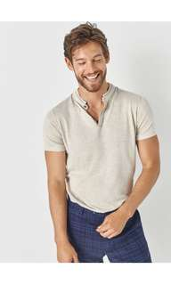 Massimo Dutti sweater style polo shirt