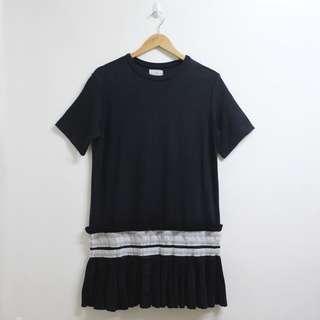 Black dress with hem details