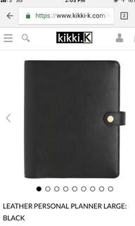 Brand New Kikki K Black Planner Large