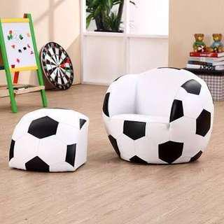 Kids soccer ball lounge and footrest