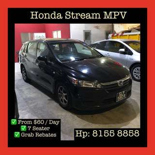 Honda Stream MPV Sunroof - Grab Car Rental, Uber welcomed