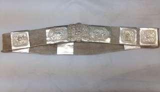 Peranakan straits Chinese silver belt n buckle