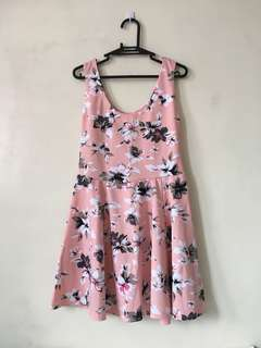 Pink Floral Dress (Office/Party)