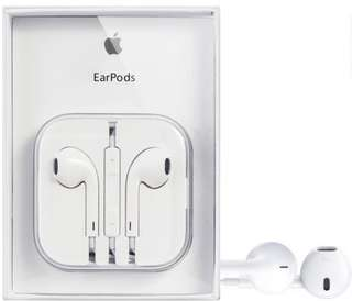 """Apple earpods with serial code and cable marks """"Well Sealed Best Seller Item"""" Order now"""