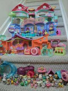 Selling Heaps Littlest pet shop play sets