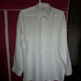 BRAND : WHARTON White long sleeve barong