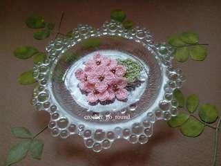 Handmade Mini Hydrangea Brooch-Pink