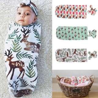 Cute Organic Cotton Swaddle Blanket Newborn Baby Kid Wrap Sleeping Bag Sleepsack (0-12months)