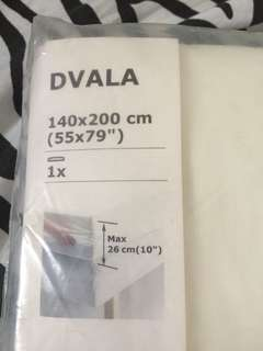 Plain White Bedsheet from Ikea
