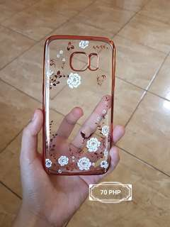 Clear Floral Samsung S7 Case