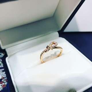 18k rose gold鑽石戒指